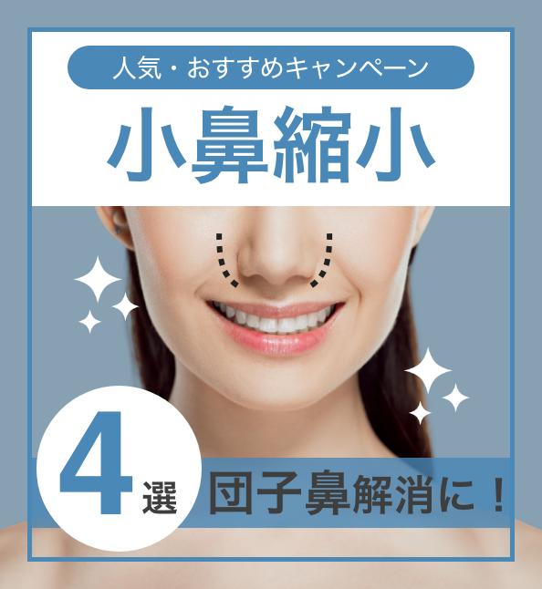 【団子鼻解消!】人気・おすすめのキャンペーン!小鼻縮小(鼻翼縮小)特集4選の画像1枚目