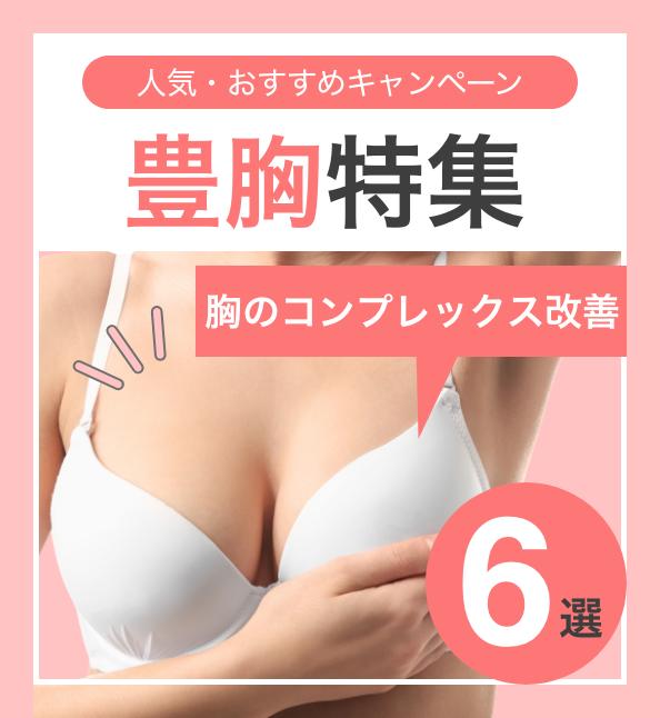 【胸のコンプレックス改善】人気・おすすめのキャンペーン!豊胸特集6選の画像1枚目